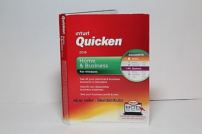 Intuit Quicken  2016 Home & Business for Windows NEW SEALED CD-ROM