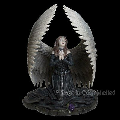 *PRAYER FOR THE FALLEN* Anne Stokes Hand Painted Resin Gothic Angel Art Figurine