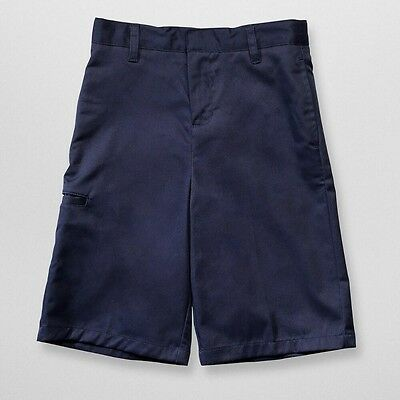 French Toast Boys Husky Dress Shorts - Navy School uniforms for children