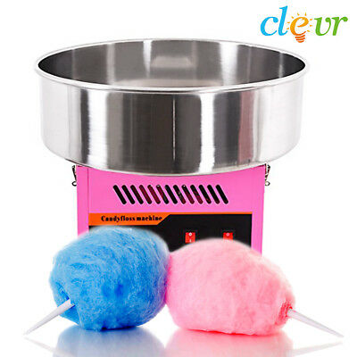 NEW Clevr Commercial Cotton Candy Machine Carnival Party Candy Floss Maker Pink