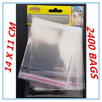 2400 X Peel And Seal Clear Shiny Cellophane Bags Party Birthday Gift Package Ap