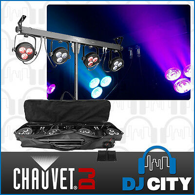 Chauvet DJ 4BAR LT USB (4x) RGB LED Wash Lighting Package D-Fi USB Compatible