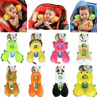 U Shape Head&Neck Support Headrest Travel Car Pillow Cushion f/ Baby Child Kid