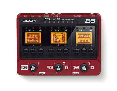 Zoom B3 Multi Effects Pedal / Amp Simulator for Electric Bass Guitars