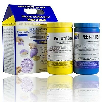 Smooth-On Mold Star 15 Slow - Platinum Cure Molding Silicone 2 Pint Kit