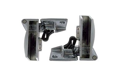 2 Chrome Glass Door Middle Hinges 170º For Inset Door - One Pair