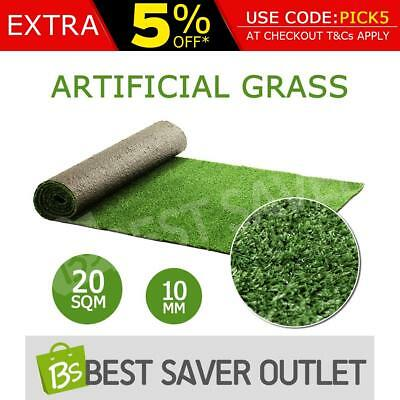10mm Artificial Grass Synthetic Turf Olive Plant Lawn Flooring 20 SQM Outdoor