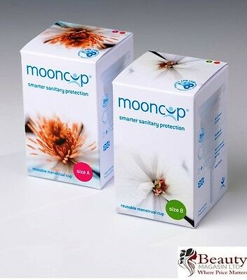 Mooncup Reuseable Menstrual Cup Healthy Alternative to Tampons Size A or B