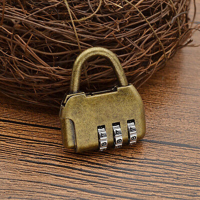 Vintage Cabinet Padlock for Door Closet Chinese Old Style 3 Digits Password Lock