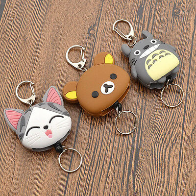 Keyfob Totoro Retractable Anime Reel Key Ring Key Chain Pull Chain Girl Gifts