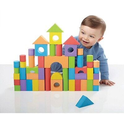50 Piece Foam Building Blocks, Baby Interactive Educational Activity Toy