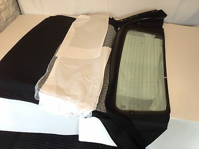 Bmw E46 1998-2007 Convertible Hood/soft Top/roof With Glass Screen Black Mohair