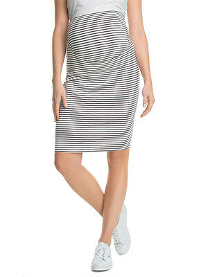 NEW - Esprit - Brown Striped Over Bump Skirt - Maternity Skirt