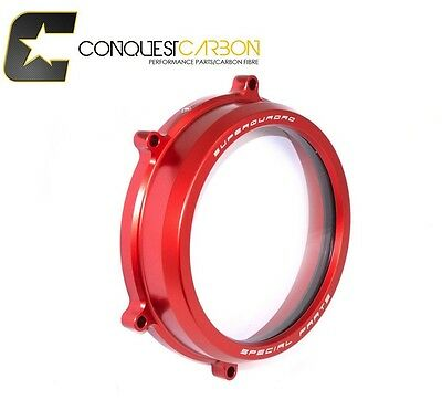 Ducabike Ducati Panigale Clear Clutch Cover RED