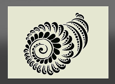 Shell Design Stencil - Various Sizes - Made From High Quality Mylar