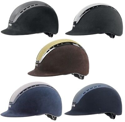 Uvex SUXXEED GLAMOUR Riding Helmet Adjustable Hat Kite VG1 Black/Blue/Brown XS-L