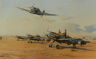 Hunters In The Desert ME109 Hans-Joachim Marseille Print Robert Taylor Air Force