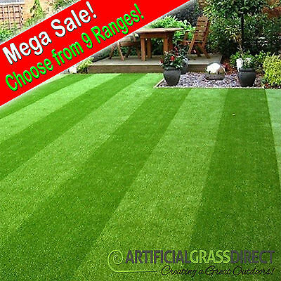 Artificial Grass | Garden Lawn Fake Turf | Realistic Astro | UV Protection