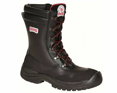 "Roots RO60304 Cherokee Mens Safety Boots 9"" Side Zip  Composite Toe Cap S3 SRC"