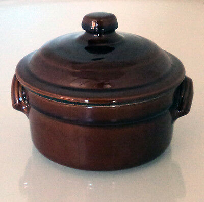 """5"""" Glazed Clay Terracotta Tapas Casserole Dish with Lid Oven Baking Pie Serving"""