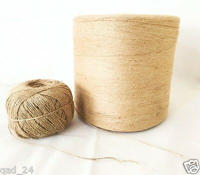 Natural Jute Thread String Cord Ribbon Yarn Craft Twine Hessian Arts Gift Brown