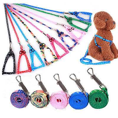 Puppy Pet Dog Cat Adjustable Nylon Traction Rope Walking Lead Leash New