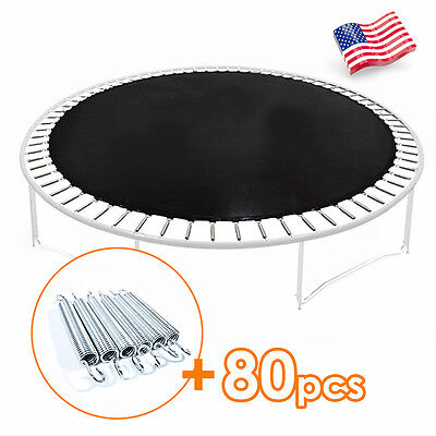 12 FT Jumping Mat fit Round Trampoline Replacement Frame w/80 Springs