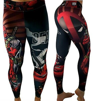 Deadpool Superhero Leggings For Yoga, Working Out or Casual Wear