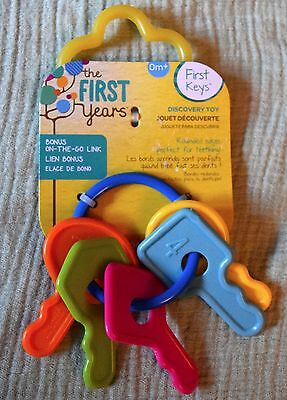NEW The First Years Keys (Numbered 1-5) -Baby/Toddler Rattle/Teether/Toy