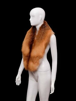 Saga Furs Fancy Red Fox Finest Quality Collar Shoulder Wrap 47''