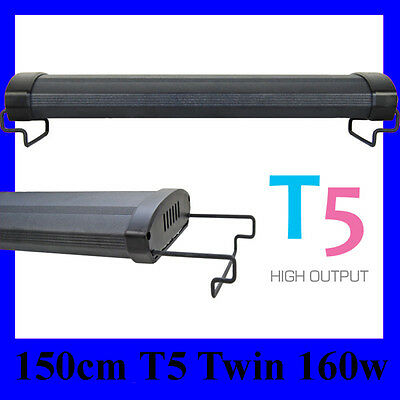 "T5 Aquarium Light 60"" Fish tank Overhead Twin tubes 150cm 170cm"