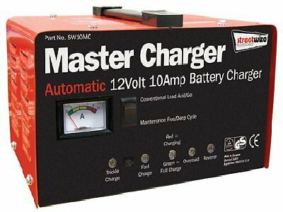 Heavy Duty Metal Cased 12 Volt 10 Amp Universal Master Battery Charger Car Van