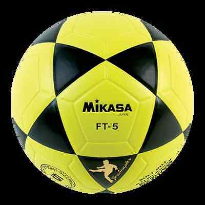 MIKASA FT5 Yellow/Black Goal Master Soccer Ball Size 5 Competition Game Ball