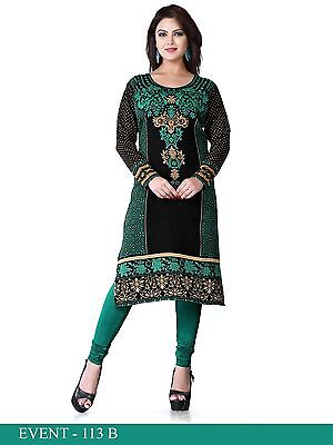 Indian Designer Crepe long kurti Kurtis-Tunics for Women