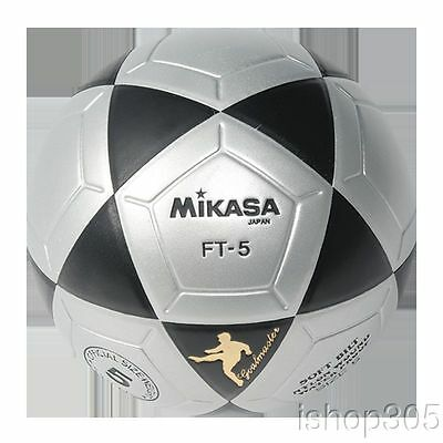 MIKASA FT5 Black/Silver Goal Master Soccer Ball Size 5 Competition Game Ball
