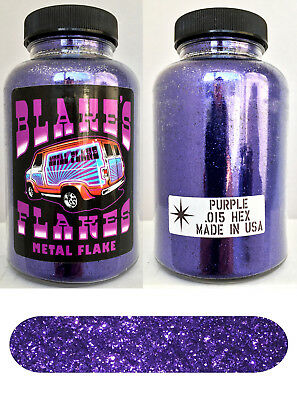 Blake's Flakes Metal Flake .015 Dark Purple Royal Hot Rod Custom Paint Job