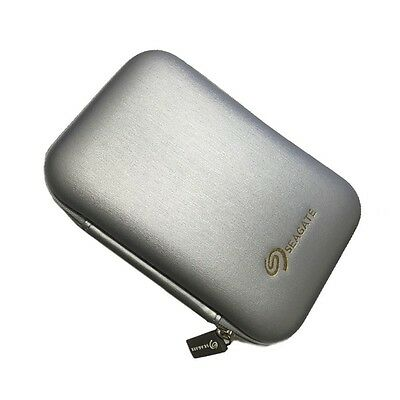 Seagate Expansion Portable Hard Drive Carrying Hard Pouch Case Bag silver
