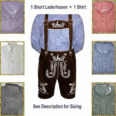 Authentic Lederhosen Oktoberfest Trachten German Bavarian Short Package/Set LW54