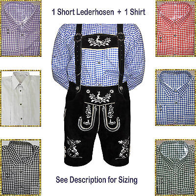 Authentic Lederhosen Oktoberfest Trachten German Bavarian Short Package/Set LW56