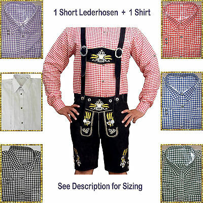 Authentic Lederhosen Oktoberfest Trachten German Bavarian Short Package/Set LW62