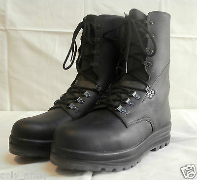 Swiss Army Para Boots NEW Black Leather Combat Assault Original Surplus Military