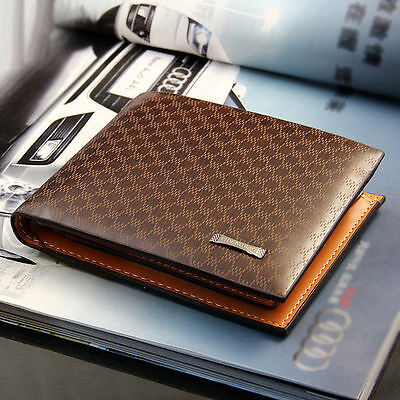 Fashion Men's PU Leather Wallet Pocket Card Clutch ID Credit Bifold Purse