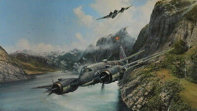 Strike And Strike Again RAAF Beaufighter Print By Robert Taylor 455 Squadron