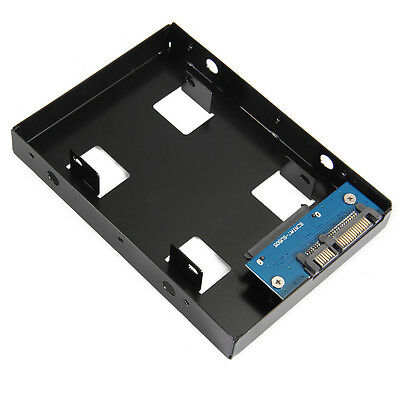 """2.5inch HDD/SSD to 3.5"""" SATA Hard Drive Disk Converter Adapter Mounting Bracket"""
