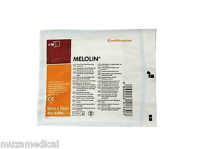 Melolin Low Adherent Absorbent Wound Dressing Pad 10 x 10cm 1 5 10 50 or 100