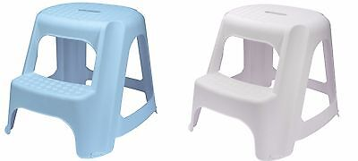 Draper  Plastic Two Step Stool for Kitchen Bathroom Workshop Office Garage Stora