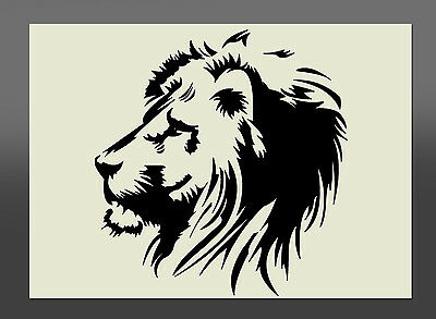 Lion Head Design Stencil - Various Sizes - Made From High Quality Mylar