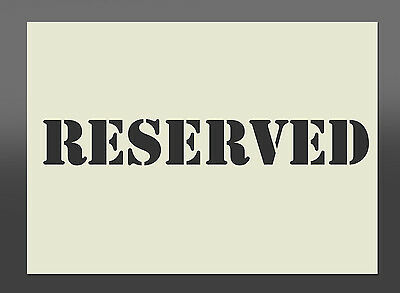 RESERVED  Mylar Exterior Stencil - Various Sizes - Spray Paint, Airbrush
