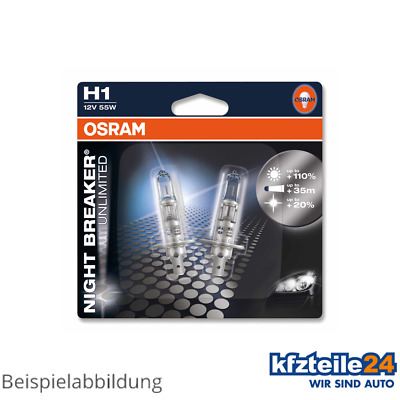 Osram | Glühlampe H1 Night Breaker® Unlimited 55W [12V] (2 Stk.) (64150Nbu-02B)