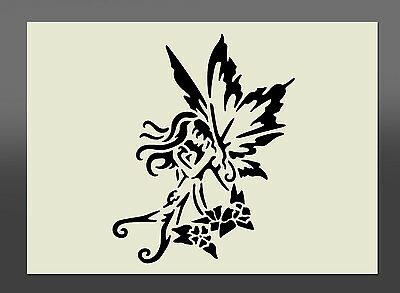 Fairy Tribal Style Stencil - Various Sizes - Made From High Quality Mylar